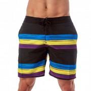 Lord Stripe Boardshorts Beachwear Light Blue MA014