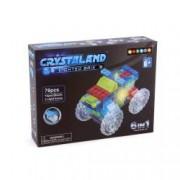 Puzzle cuburi cu LED 6 in 1 - Camion Atv Masina de curse Masina de formula 1 - 76 piese