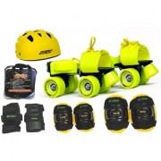 Jaspo Power Pack Pro Senior Skates Combo (skates+helmet+knee+elbow+wrist+bag)suitable for age 6 to 14 years