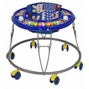 NewAge High Quality Baby Walker - Round Base with Wheels 9 Months to 1.5 Years (Design May Vary) Blue