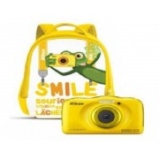 "Nikon Camara nikon w100 amarilla + mochila /sumergible/13.3mp/pantalla 2.7""/zoom 3x/vr/wifi/full hd/bt/snapbridge"