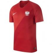 Tricou de fotbal Nike Polish Y Stadium JSY SS Away roșu, mărime 147-158 (894 014 611)