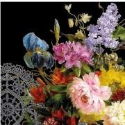 Ambiente 40x Stilleven bloemenboeket servetten 33 x 33 cm - Feestservetten