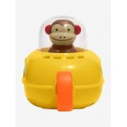 SKIP HOP Zoo - Brinquedo para o banho, macaco Submarino, da SKIP HOP amarelo vivo liso com motivo