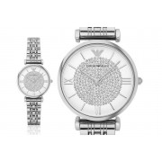 Direct E Trade £109 instead of £199.99 for a ladies' silver Emporio Armani luxury watch from Best Watch Company - save 45%