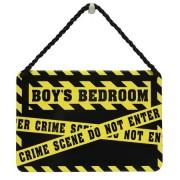 hang-ups! - tinnen bordje - boys bedroom crime scene do not enter