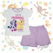 Pijama maneca scurta My Little Pony mov 3-8ani