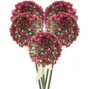 Bellatio flowers & plants 5x Roze/paarse sierui kunstbloemen 70 cm