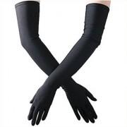Full Hand Skin Gloves for Women-Set of 1 BLACK