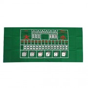 ELECTROPRIME® Poker Table Mat Poker Gaming Table Cloth Poker Dice Game Play Games Green