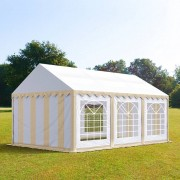 TOOLPORT Partytent 3x6m PVC 500 g/m² beige waterdicht Gartenzelt, Festzelt, Pavillon