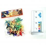 Distributori giocattoli busta con 24 statuine di mini dragoni 1570/95730