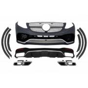 Bodykit kit estetico completo TUNING look GLE 63 AMG per MERCEDES GLE SUV W166 dal 2015- paraurti anteriore posteriore estrattore diffusore finitura nera