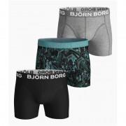 Björn Borg 3-pack cotton stretch boxershorts - zwart/grijs