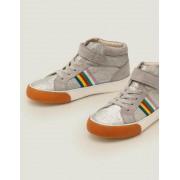 Mini Silber, Glitzer Hochgeschnittene Schuhe mit elastischen Schnürsenkeln Mädchen Boden, 31, Metallic