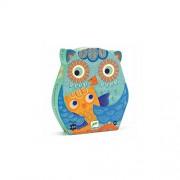 Djeco Sihouette Puzzle, Hello Owl, 24 Pieces