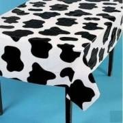 Fun Express Manteles Ligeros con diseño de Vaca (6 Unidades, 54 x 72 cm), Negro, Blanco, 54 x 72