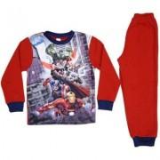 Avengers Assemble Avengers pyjamas fleece barn (Röd, 4 ÅR - 104 CM)
