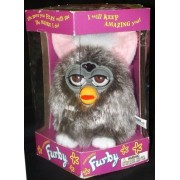 Furby Model 70-800 Owl Gray Shag / Long Hair Electronic Furbie