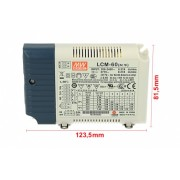 Led Driver CC Meanwell LCM-60 Dimmerabile 0/1-10V 10V PWM Resistance Corrente Costante Modulare 500/600/700/900/1050/1400mA