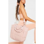 PrettyLittleThing Tote bag oversize rose matelassé, Rose - One Size