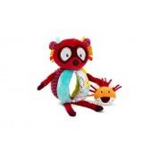 Jucărie senzorială de pluş pentru bebeluşi, Lemurul Georges