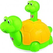 RD GRAND Kids for Toy, Push N Go Dino Toys Gifts, On Pressing of The Baby Dino On Top (Non Battery Toy)