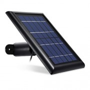 Solar Panel Compatible with Arlo Pro, Arlo Pro 2, Arlo GO & Arlo Light, Power Your Arlo Outdoor Camera continuously with Our New Solar Charging Device - by Wasserstein (Black)