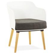 Chaise design scandinave 'FRISK' avec accoudoirs