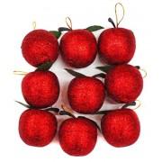 Набор подвесок Яблоко 3,5 см, 9 шт., красное. 972695