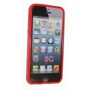 Силиконов гръб ТПУ за Apple iPhone 5C Червен