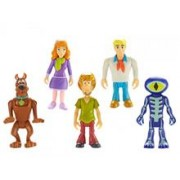 Set 5 Figurine 7 Cm Personaje (Daphne, Scooby Doo, Shaggy, Fred, Skeleton Man)