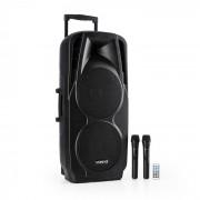 SPX-PA9210 Sistema de Som 2x10'' USB, SD/MMC Bluetooth Bateria com duração P/ 4-6h
