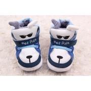 Pantofi baieti catelusi albastrii-albi 0-6 luni