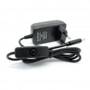 tiendatec FUENTE ALIMENTACION 5V 3A 15W USB-C CON INTERRUPTOR