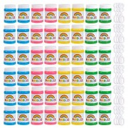 Happy Birthday Bubbles Assorted Color Mini 1.69 Oz Bubble Bottles 48 Pack, Colorful Bubble Party Supplies for Kids Parties, Celebrations, Birthdays, 1.7 x 2.6 x 1.7 Inches