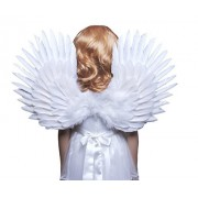 FashionWings (TM) Childrens White Feather Angel Wings Duo Use Pointing up or Down