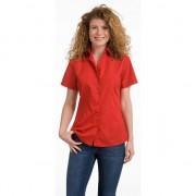 Lemon & Soda Dames overhemden rood korte mouw