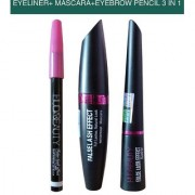 HUDA BEAUTY EYELINER MASCARA EYEBROW PENCIL 3 IN 1