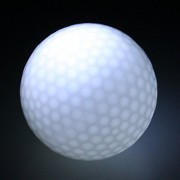 ELECTROPRIME Pack of 3 White LED Flashing Light up Golf Balls for Sports Night Golfing