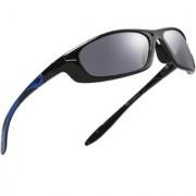 Royal Son Polarized Latest Sports Sunglasses For Men Women Stylish (Black Blue Wrap Around Unisex Goggles)