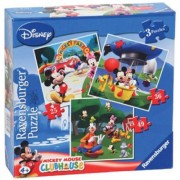 Puzzle Clubul Mickey Mouse, 3 Buc In Cutie, 25/36/49 Piese Ravensburger