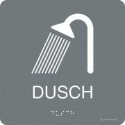 """Taktil skylt """"Dusch"""" Grå"""
