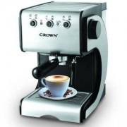 Кафемашина Crown CEM-1524, 15 Бара налягане, 1.5 литра голям подвижен резервоар за вода, Сребист/Черен