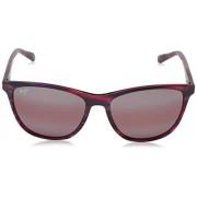 Maui Jim Gafas de sol para mujer caña de azúcar 783 marco clásico, lentes polarizadas, con tecnología patentada polarizedPlus2, Atardecer lila, with Patented PolarizedPlus2 Lens Technology