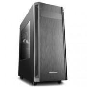 Кутия Deep Cool D-SHIELD V2, ATX/Micro ATX/Mini-ITX, 1x USB 3.0, 2x USB 2.0, страничен прозорец, черна, без захранване