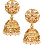 Pourni exclusive Designer American Diamond Jhumka Earring -KRER26