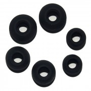 S M L Silicona In-Ear Earphone Earbuds Caps - Negro (3 pares)
