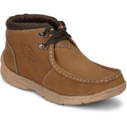 Red Chief Rust Men High Ankle Outdoor Casual Leather Shoes (RC3080 718)