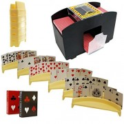 Automatic Card Shuffler, Includes 2 Deck Of Cards And 6 Card Holders by IQ Toys